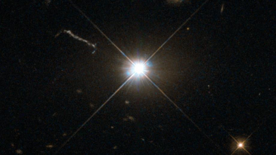 Supermassiivinen musta aukko. Kuva: Hubble (ESA/NASA)