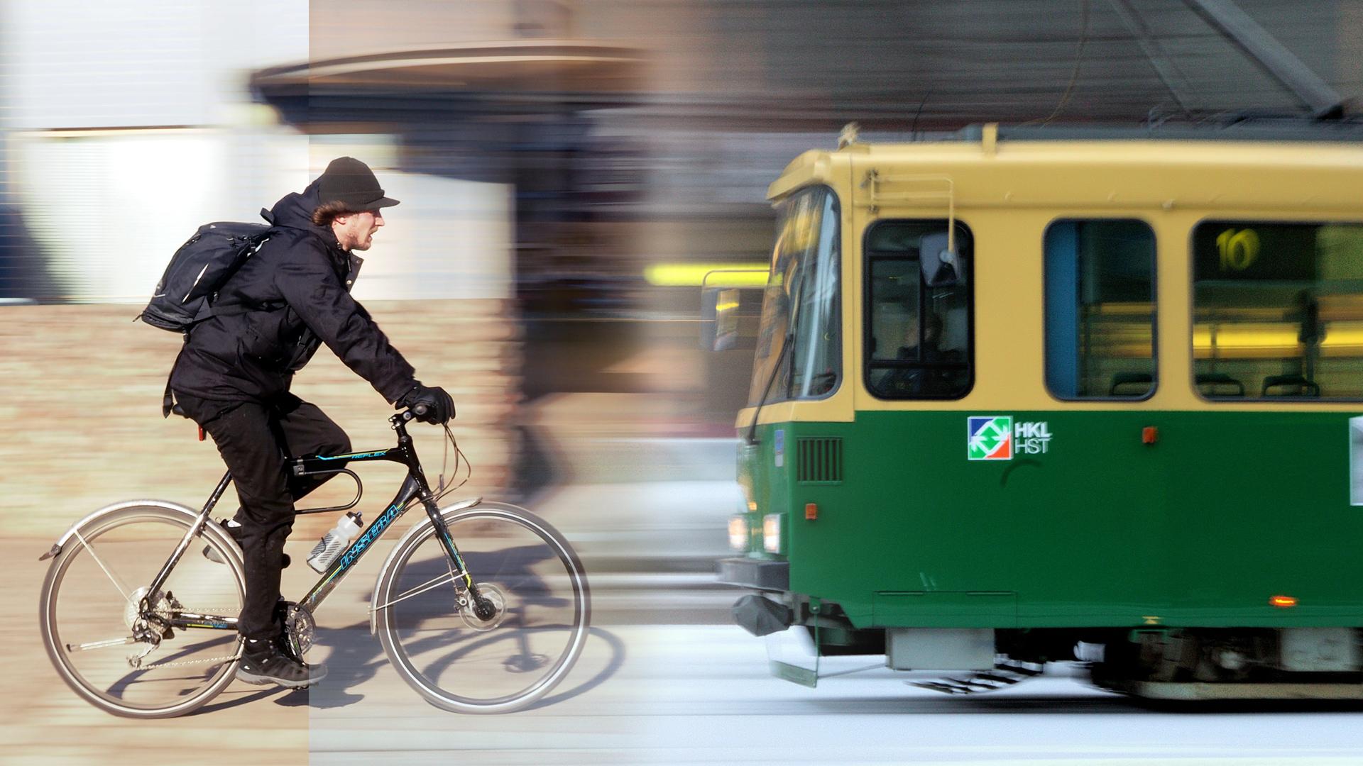 Liikennettä Helsingissä. Kuvat: Lauri Koponen ja Atte Koskimaa (flickr)