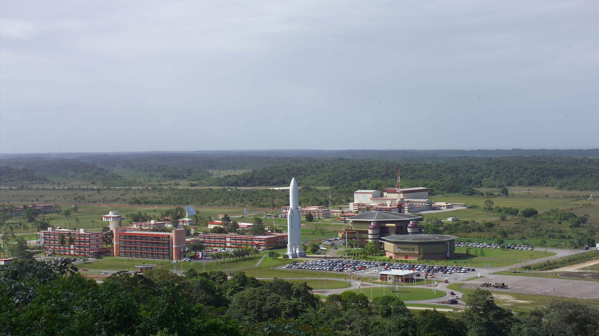 Yleisnäkymä Kouroun avaruuskeskukseen