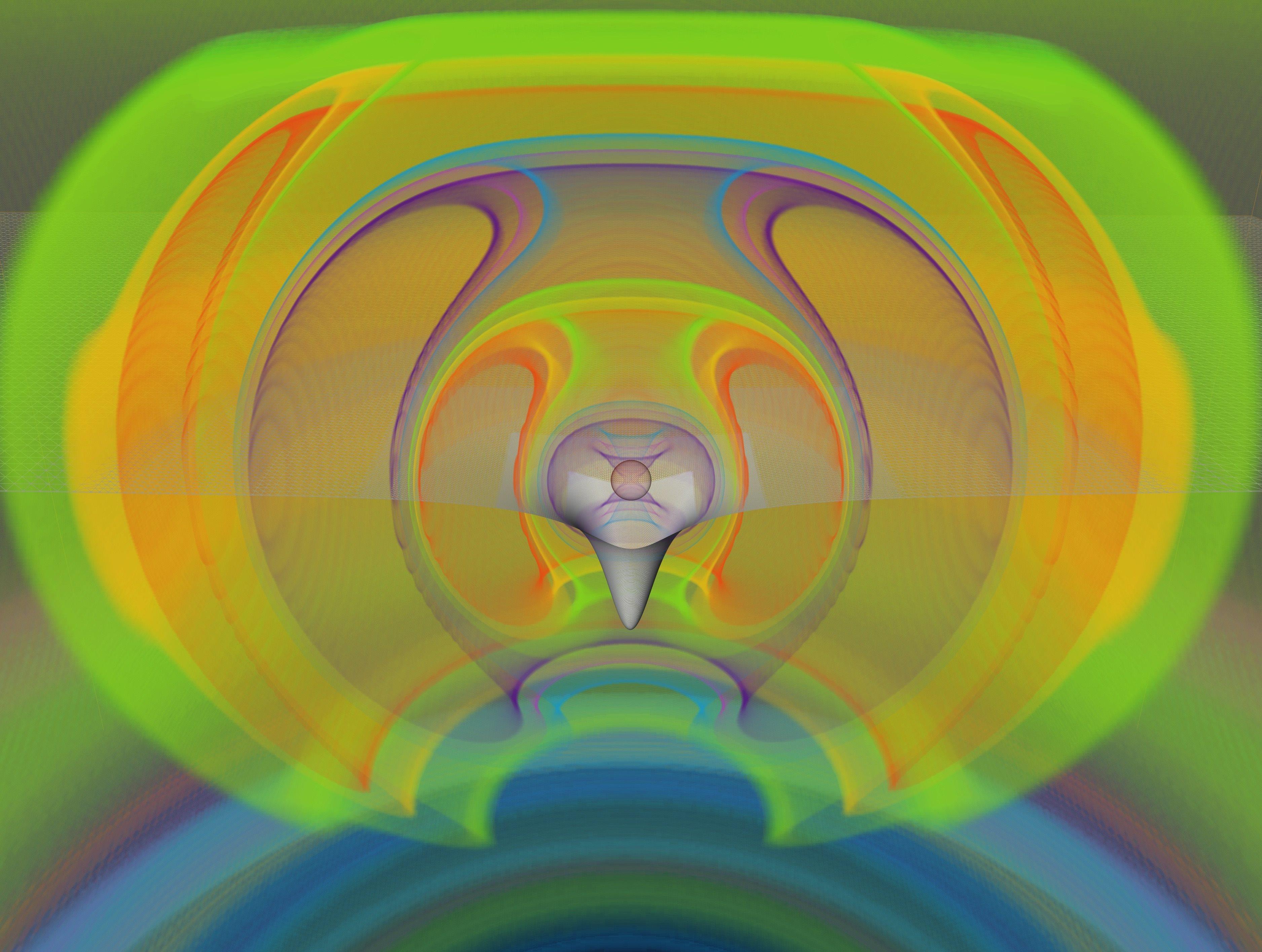 Havainnollistus neutronitähdestä. Kuva: Goethe University Frankfurt