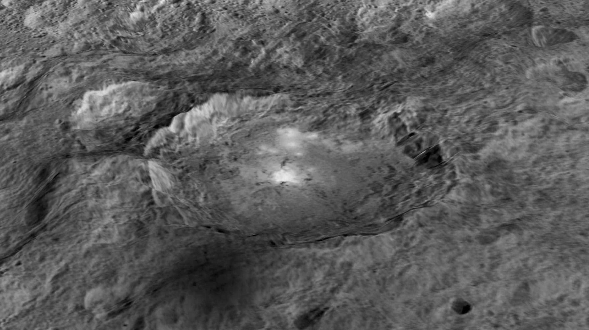 Occator-kraatteri 3D-mallinnettuna