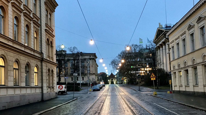 Helsinkiä joulukuussa 2016