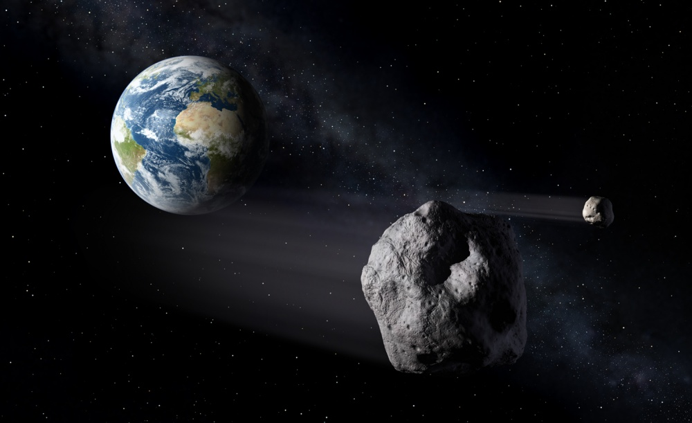 Asteroid passing Earth, ESA - P.Carril