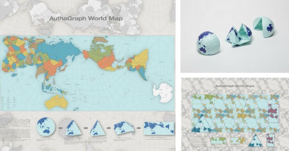 Tama Origamikartta Vaaristaa Maailmankuvaa Perinteisia Karttoja