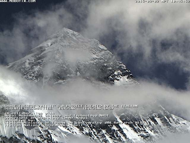 Mount Everest webcam