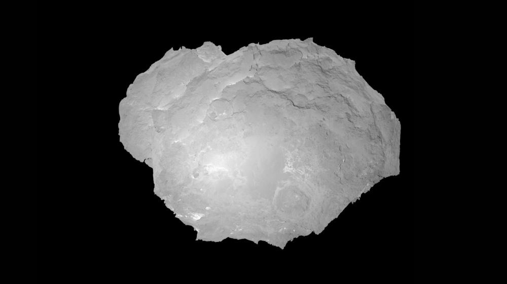 Chury OSIRIS-kameran kuvaamana suoraan edestä