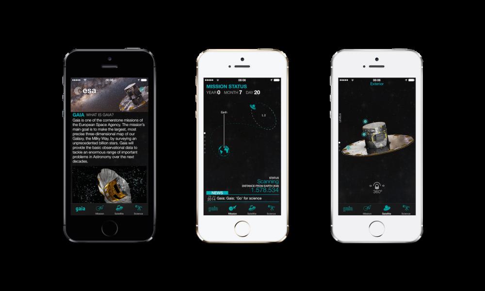 Gaia-app kännykässä