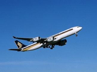 SIA A340-500 nousee lentoon. Kuva: Airbus